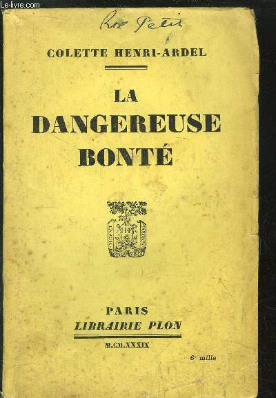 LA DANGEREUSE BONTE