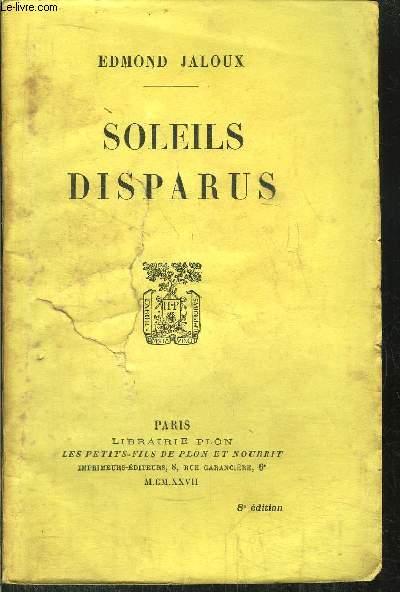 SOLEILS DISPARUS