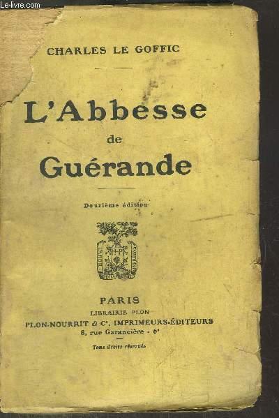 L'ABBESSE DE GUERANDE