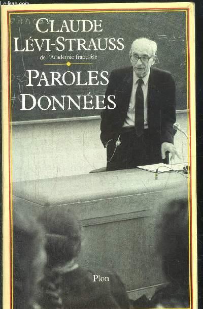PAROLES DONNEES
