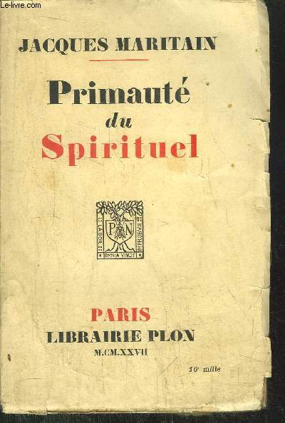 PRIMAUTE DU SPIRITUEL
