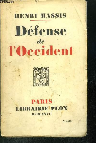 DEFENSE DE L'OCCIDENT