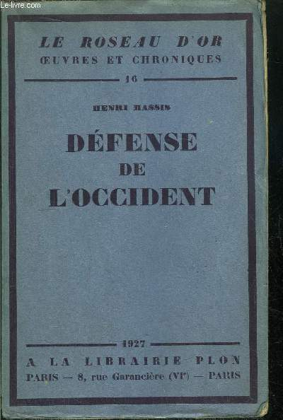 DEFENSE DE L'OCCIDENT