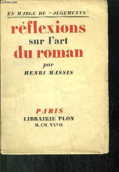 REFLEXIONS SUR L'ART DU ROMAN
