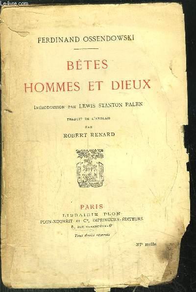 BETES HOMMES ET DIEUX
