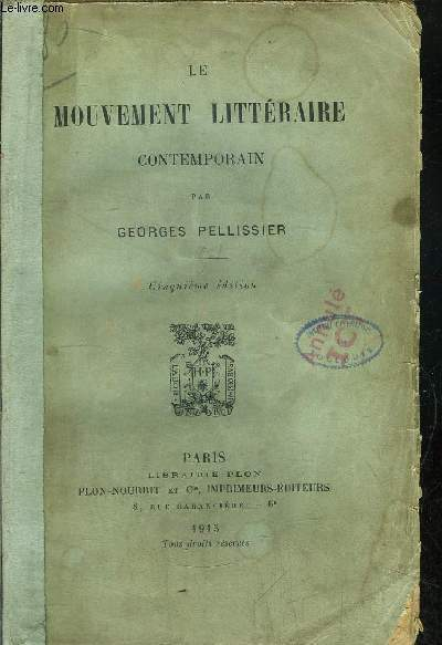 LE MOUVEMENT LITTERAIRE CONTEMPORAIN