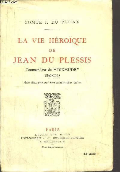 LE VIE HEROIQUE DE JEAN DU PLESSIS