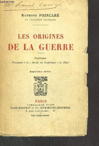 LES ORIGINES DE LA GUERRE