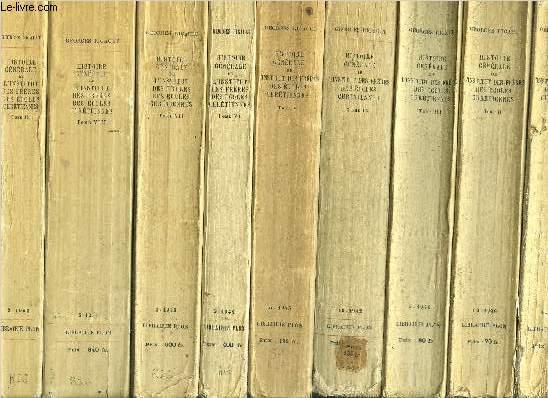 HISTOIRE GENERALE DE L'INSTITUT DES FRERES DES ECOLES CHRETIENNES - 9 VOLUMES - TOMES I+II+III+IV+V+VI+VII+VIII+IX