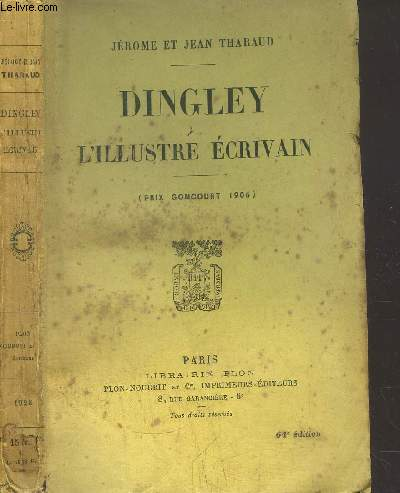 DINGLEY L'ILLUSTRE ECRIVAIN