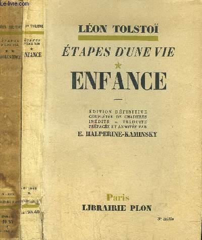 ETAPES D'UNE VIE - 2 VOLUMES  - TOMES I+II