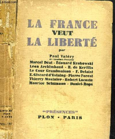 LA FRANCE VEUT LA LIBERTE - COLLECTION