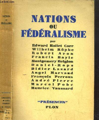 NATIONS OU FEDERALISME - COLLECTION