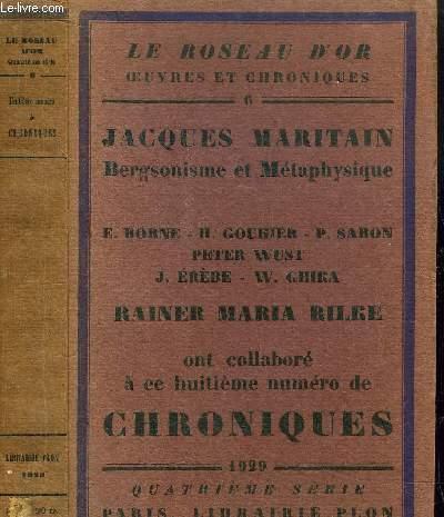 HUITIEME NUMERO DE CHRONIQUES- LE ROSEAU D'OR N°6