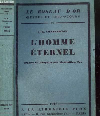 L'HOMME ETERNEL - LE ROSEAU D'OR N°17