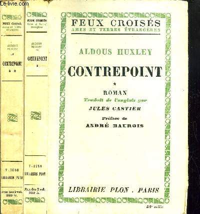 CONTREPOINT- 2 VOLUMES - TOMES I+II - COLLECTION FEUX CROISES