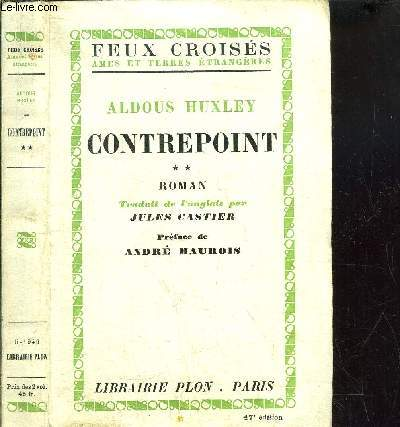 CONTREPOINT - TOME II - COLLECTION FEUX CROISES