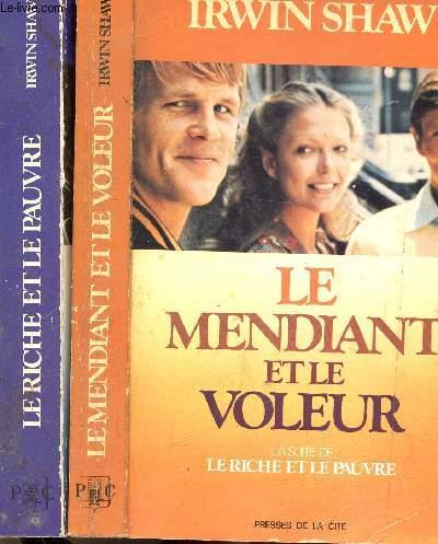2 VOLUMES - 2 TOMES : LE MENDANT ET LE VOLEUR - LE RICHE ET LE PAUVRE