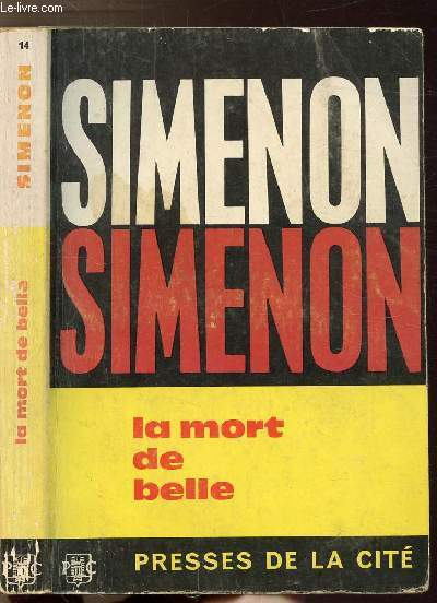 LA MORT DE BELLE - COLLECTION MAIGRET N°14