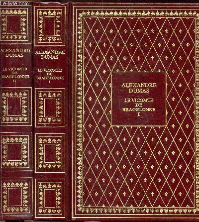 LE VICOMTE DE BRAGELONNE - 2 VOLUMES - TOMES I+II - COLLECTION BIBLIO-LUXE