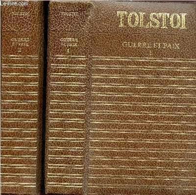 GUERRE ET PAIX - 2 VOLUMES - TOMES I+II - COLLECTION CLUB GEANT CLASSIQUE