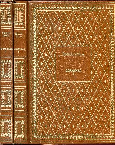 GERMINAL - 2 VOLUMES - TOMES I+II - COLLECTION BIBLIO-LUXE
