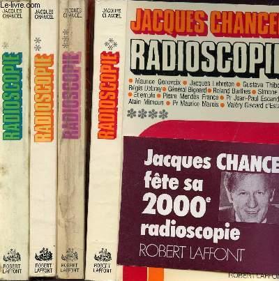 RADIOSCOPIE - 4 VOLUMES - TOMES I+II+III+IV