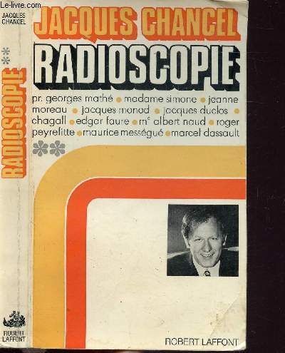 RADIOSCOPIE - TOME II