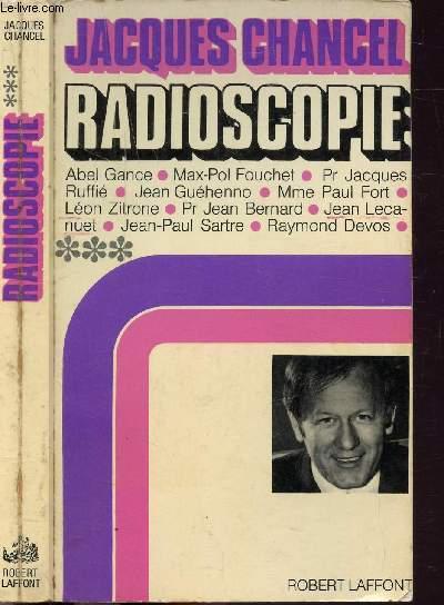 RADIOSCOPIE - TOME III