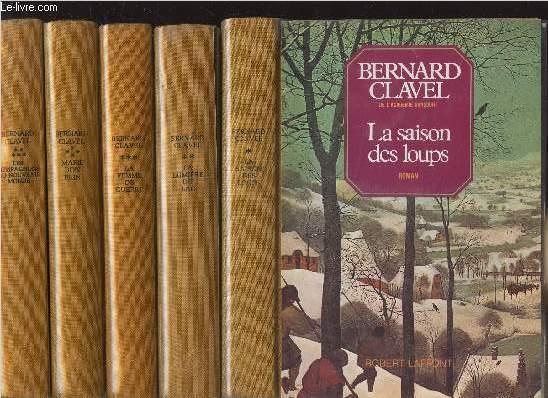 LES COLONNES DU CIEL - 5 VOLUMES - TOMES I+II+III+IV+V - LA SAISON DES LOUPS - LA LUMIERE DU LAC - LA FEMME DE GUERRE - MARIE BON PAIN - COMPAGNONS DU NOUVEAU-MONDE