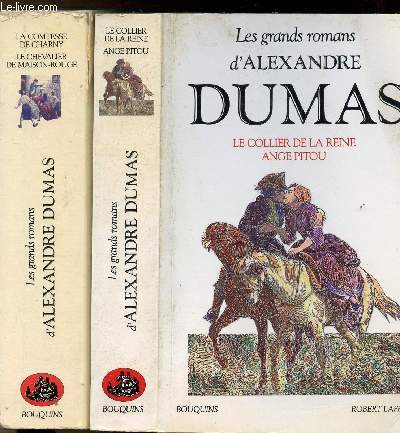 MEMOIRES D'UN MEDECIN- 2 VOLUMES - 4 TOMES - LE COLLIER DE LA REINE - ANGE PITOU - LA COMTESSE DE CHARNY LE CHEVALIER DE MAISON-ROUGE - COLLECTION