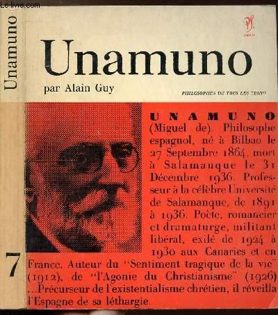 UNAMUNO - COLLECTION PHILIOSOPHES DE TOUS LES TEMPS N°7