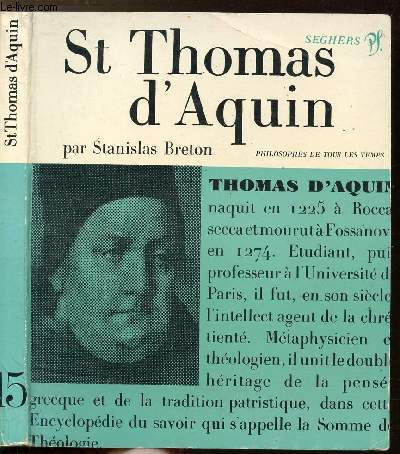 SAINT THOMAS D'AQUIN - COLLECTION PHILIOSOPHES DE TOUS LES TEMPS N°15