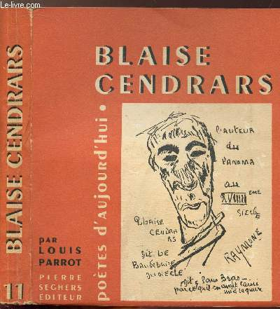 BLAISE CENDRARS - COLLECTION POETES D'AUJOURD'HUI N°11