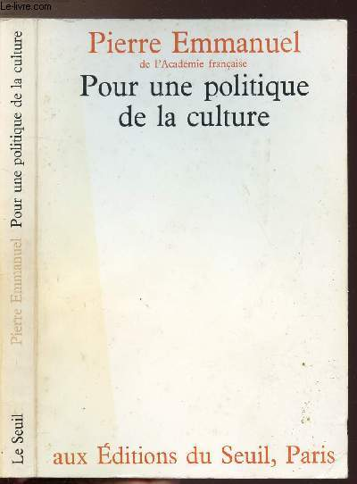 POUR UNE POLITIQUE DE LA CULTURE