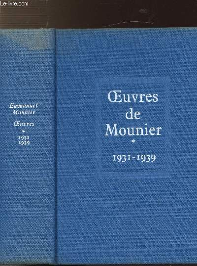 OEUVRES - TOME I - 1931-1939
