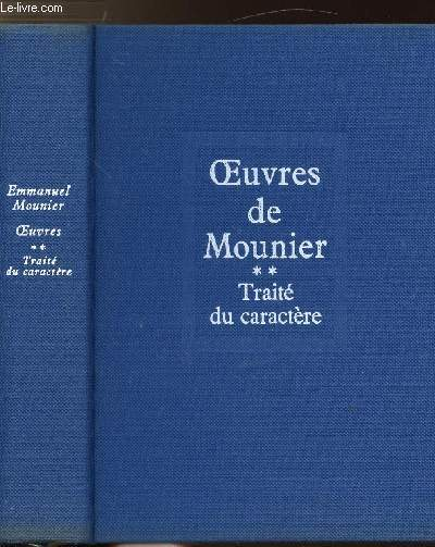 OEUVRES - TOME II - TRAITE DU CARACTERE