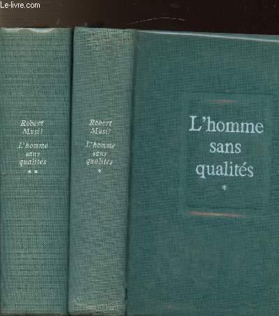 L'HOMME SANS QUALITES - 2 VOLUMES - TOMES I+II