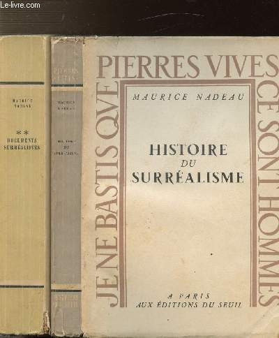HISTOIRE DU SURREALISME - 2 VOLUMES - TOMES I+II - DOCUMENTS SURREALISTES