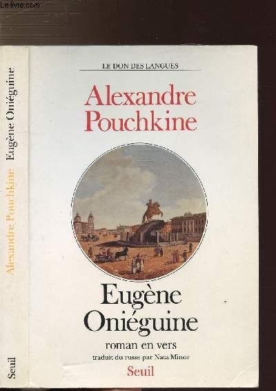 EUGENE ONIEGUINE - ROMAN EN VERS