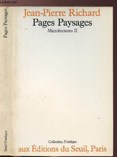 PAGES PAYSAGES - MICROLECTURES TOME II