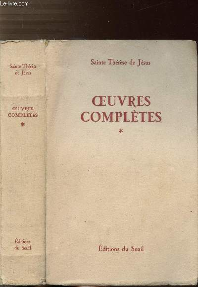 OEUVRES COMPLETES - TOME I