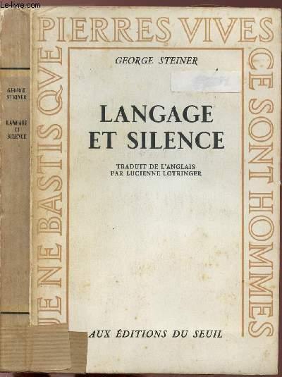 LANGAGE ET SILENCE