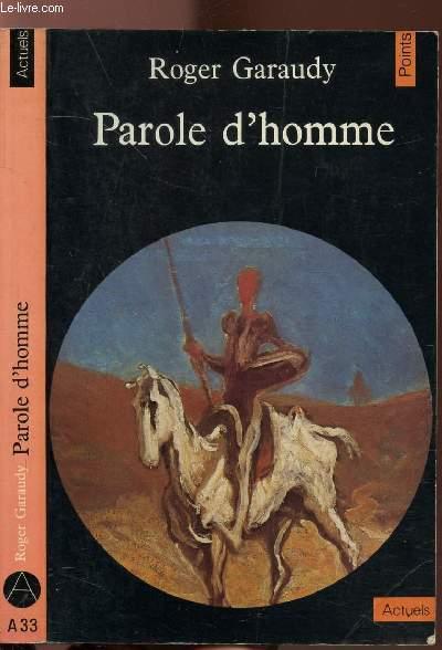 PAROLE D'HOMME - COLLECTION POINTS ACTUELS N°A33