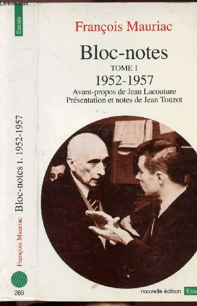 BLOC-NOTES -TOME I - 1952-1957 - COLLECTION POINTS ESSAIS N°269