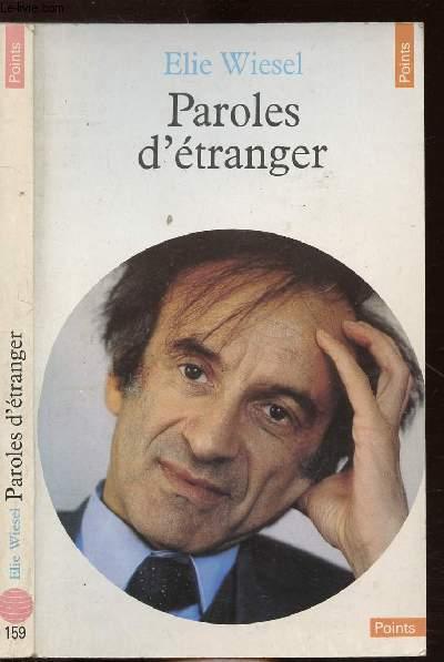PAROLES D'ETRANGER - COLLECTION POINTS CIVILISATION N°159