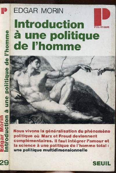 INTRODUCTION A UNE POLITIQUE DE L'HOMME- COLLECTION POLITIQUE N°29