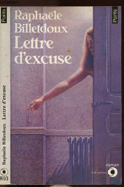 LETTRE D'EXCUSE - COLLECTION POINTS N°R93