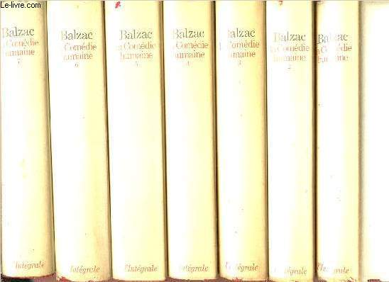 LA COMEDIE HUMAINE - 7 VOLUMES - TOMES I+II+III+IV+V+VI+VII - COLLECTION INTEGRALE