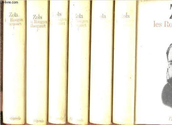 LES ROUGON-MACQUART - 6 VOLUMES - TOMES I+II+III+IV+V+VI - COLLECTION INTEGRALE